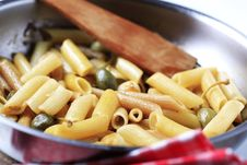 Free Pasta With Pickled Capers Royalty Free Stock Photography - 14192687