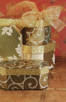 Gift Boxes Stacked Royalty Free Stock Images