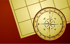 Free Compass On Map Royalty Free Stock Images - 14192739