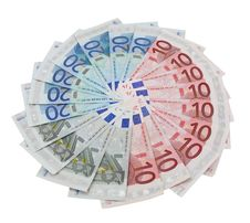 Free Five, Ten And Twenty Euro Banknotes Royalty Free Stock Photography - 14192857