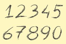Free Hand Written Numbers Stock Image - 14193091
