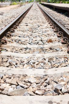 Free Railway And Sidewalk Stock Image - 14193941