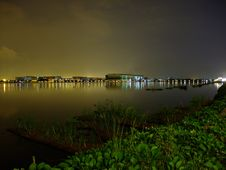 Free Pandan Reservoir By Night With Greenery Foreground Stock Photo - 14194000