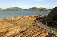 Port Chalmers, NZ Royalty Free Stock Images