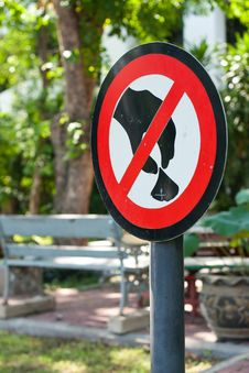 Free Warning Sign In The Garden Stock Image - 14194321
