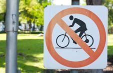 Free Warnning Sign Bike Stock Photography - 14194392