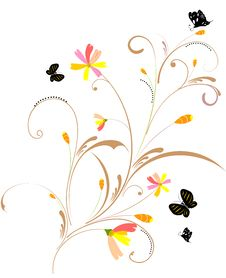 Free Floral Background Stock Images - 14194454