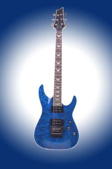 Free Electric Guitar Isolated On Gradient Background Stock Photography - 14194492