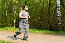 Free Jogging Guy Royalty Free Stock Photos - 14194608