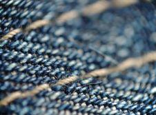 Free Piece Of Cloth Macro: Blue Denim Royalty Free Stock Photos - 14195098