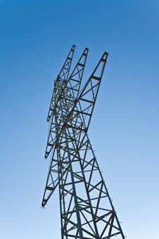 Free Electricity Tower For Energy With Sky Stock Photo - 14195410