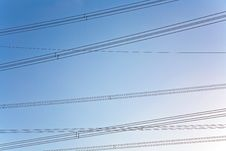 Free Electricity Tower For Energy With Sky Stock Image - 14195771