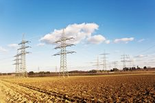 Free Electricity Tower For Energy With Sky Royalty Free Stock Photography - 14195847