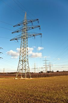 Free Electricity Tower For Energy With Sky Royalty Free Stock Photo - 14196065