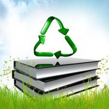Free Black Book About Recycle Stock Photo - 14196310