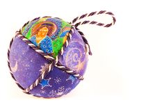 Handmade Christmas Balls Stock Photos