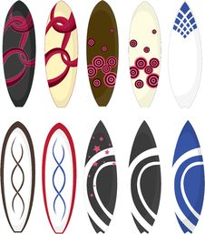 Surfing Pads Royalty Free Stock Photos