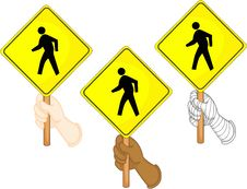 Free Traffic Sign Boards Royalty Free Stock Photos - 14198938