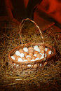 Free Eggs In A Basket Royalty Free Stock Photography - 1423347