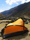 Free Yellow Tent In The Cordillera Royalty Free Stock Image - 1424556