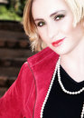 Free Young Blond Woman In Red Jacket Stock Photo - 1426680