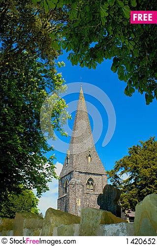 Free Llanddarog Church Spire Stock Photography - 1420652