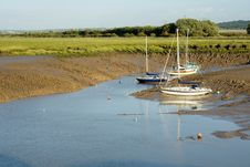 Free Three Moored Yachts Royalty Free Stock Photos - 1420238