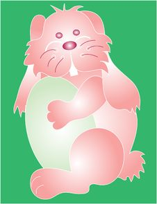 Bunny Graphic Stock Image