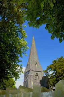 Llanddarog Church Spire Stock Photography