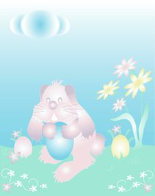Free Easter Bunny Illustration. Stock Images - 1420804