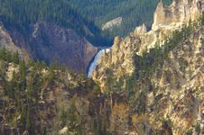 Free Yellowstone National Park Waterfall Stock Photography - 1422152