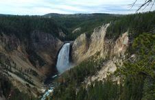 Free Yellowstone National Park Waterfall Royalty Free Stock Photography - 1422177