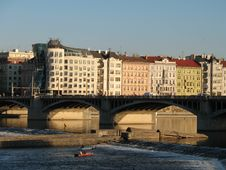 Free Prague Houses Royalty Free Stock Image - 1422306