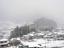 Free Snowfall Over Countryside Royalty Free Stock Photo - 1423975