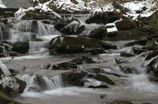 Free Flowing Creek In Winter Stock Image - 1424021