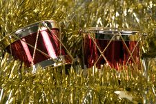 Free Christmas Drums Stock Photography - 1424102