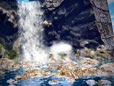 Dreamy Waterfall3 Royalty Free Stock Photo