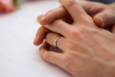 Free Groom S Wedding Ring Royalty Free Stock Photography - 1425277