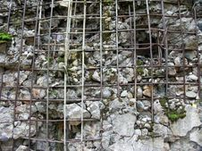 Broken Reinforced Concrete Stock Images