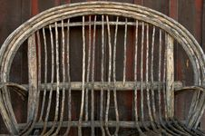 Wicker Chair Royalty Free Stock Photo