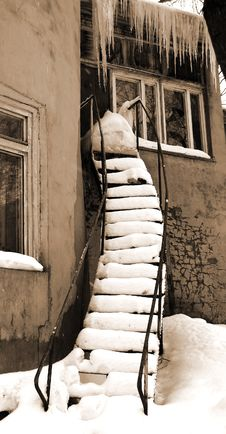 Old Stairs. Royalty Free Stock Photos
