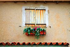 Window With Shutters In France Stock Photos