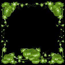 Free Pumpkin $ Foliage Frame Background Royalty Free Stock Photos - 1427078