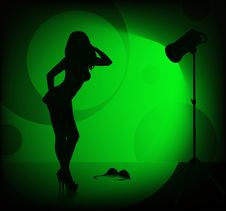 Free Female Silhouette Stock Images - 1427174