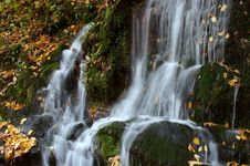 Autumn Cascade Alpha Royalty Free Stock Photo