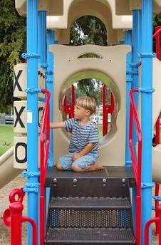 Boy At Park Royalty Free Stock Images