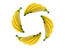 Free Circle Banana Stock Photography - 1428962