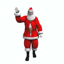 Santa Waving - Isolated Royalty Free Stock Images