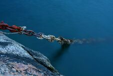 Old Boat Rusted Chains Royalty Free Stock Image