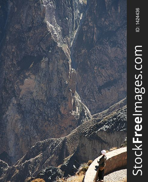 Overview in the Colca canyon,Peru